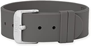 JDRT Watch Strap - Brown Silicone / White Silver Buckle