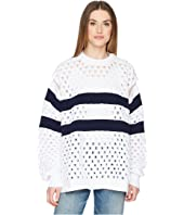 Sonia Rykiel - Sailor Stripe Knit Convertible Sleeve Sweater
