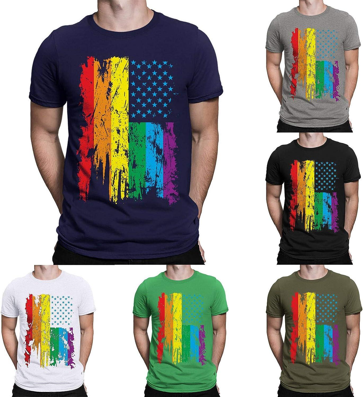 JSPOYOU Men's Summer T-Shirts Crew Neck Spasm price Top Soldering Short In Tees Sleeve