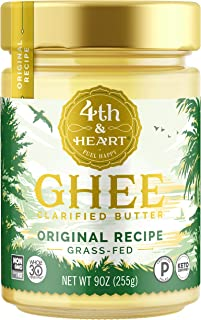 Original Grass-Fed Ghee Butter by 4th & Heart, 9 Ounce, Keto, Pasture Raised,..