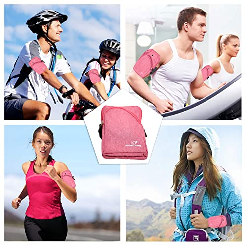 Livzing Waterproof Sports Unisex Armband Mobile Phone Storage Holder Strap for Running Jogging Gym - Android and iOS Height Till 6.5 Inches