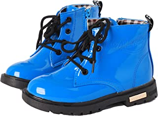 YWPENGCAI Kids Waterproof Martin Boots Boys Girls Ankle Boots (Toddler, Little Kid)