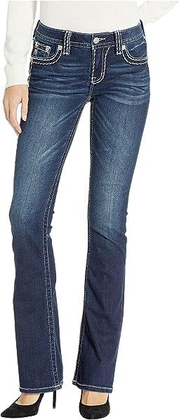 Classic Bootcut Jeans in Dark Blue