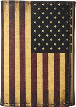 Vintage USA Flag Trifold Wallet