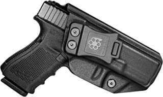 Amberide IWB KYDEX Holster Fit: Glock 19 19X 23 32 45 (Gen 1-5) | Inside Waistband | Adjustable Cant | US KYDEX Made