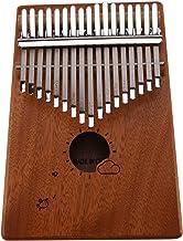 JVSISM 17 Keys Kalimba Thumb Piano Mbira Mahogany Solid Wood with Carry Bag Storage Case Tuning Hammer Music Book Stickers