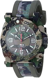 REACTOR Men's Gryphon Stainless Steel Swiss-Quartz Sport Watch with Resin Strap, Beige, 22 (Model: 73824)