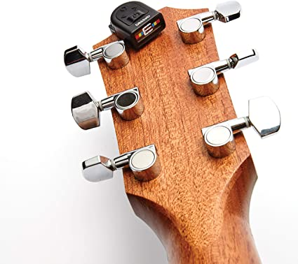 D'Addario Guitar Tuner - Micro Headstock Tuner - Tuner for Acoustic Guitar, Electric Guitar, Bass Guitar, Mandolin, Banjo, Ukelele - Compact & Discrete - Clip On - 1 Pack