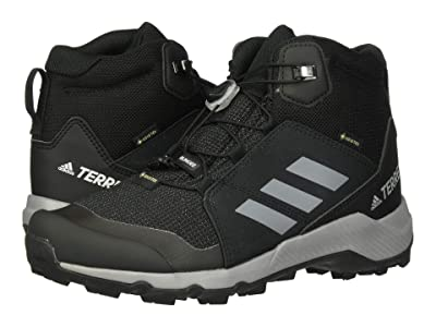 adidas Outdoor Kids Terrex Mid GTX (Little Kid/Big Kid) (Black/Grey Three/Carbon) Kids Shoes