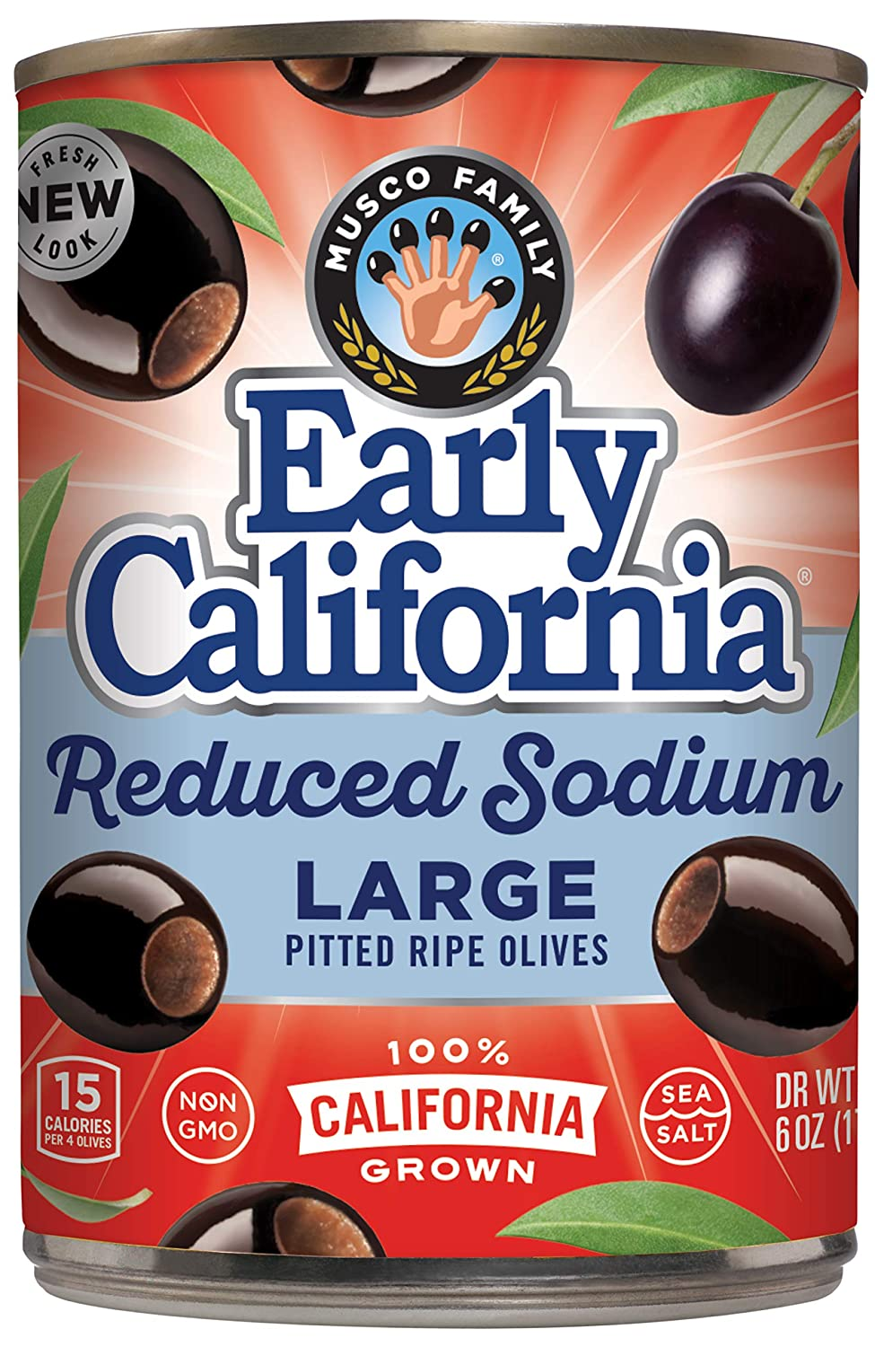 Early California Reduced-Sodium Ripe Pitted Olives Black Tucson Mall Large shipfree