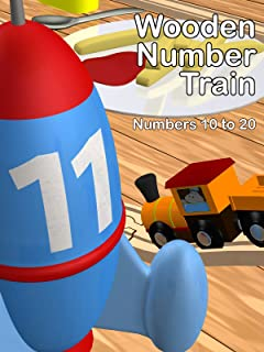 Wooden Number Train - Numbers 10 to 20