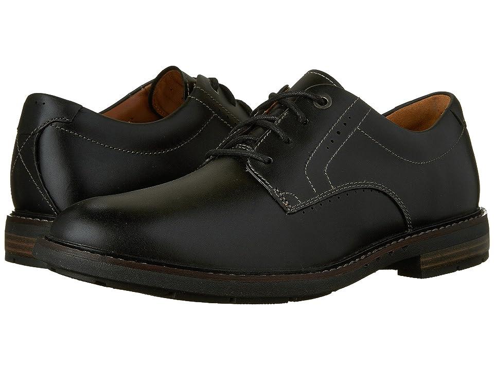 Clarks Un.Elott Plain (Black Leather) Men