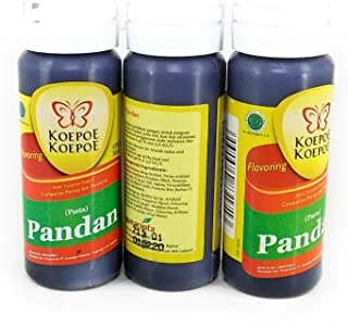 Koepoe-koepoe Pandan Paste, 30ml (Pack of 3)