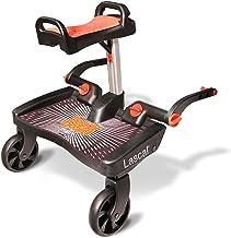 Lascal BuggyBoard Maxi, Kinderbuggy Trittbrett mit großer Stehfläche und Saddle, Kinderwagen Zubehör für Kinder von 2-6 Jahren 22 kg, kompatibel mit fast jedem Buggy, schwarz