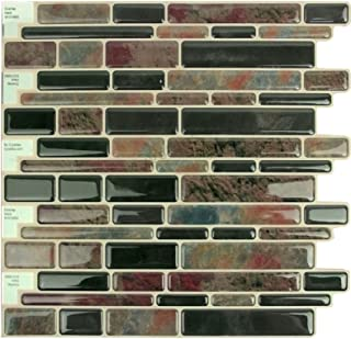 """10/"""" X 10/"""" Each Item# 91010845 Crystiles Peel and Stick Self-Adhesive DIY Backsplash Stick-on Vinyl Wall Tiles for Kitchen and Bathroom D/écor Projects 6 Sheets Pack"""