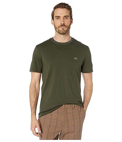 Lacoste Short Sleeve Supple Jersey Semi-Fancy T-Shirt Regular (Baobab) Men