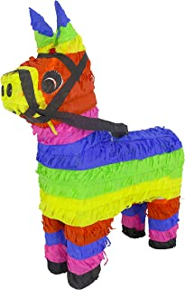 Lytio Mexican Donkey Pinata Festive Colored Burro Perfect for Center Piece or Photo Prop, Piñata Game or Decor 5 de Mayo