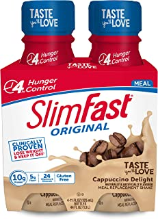 SlimFast Original - Weight Loss Meal Replacement RTD Shakes - with 10g Protein & 5g Fiber - Plus 24 Vitamins & Minerals pe...