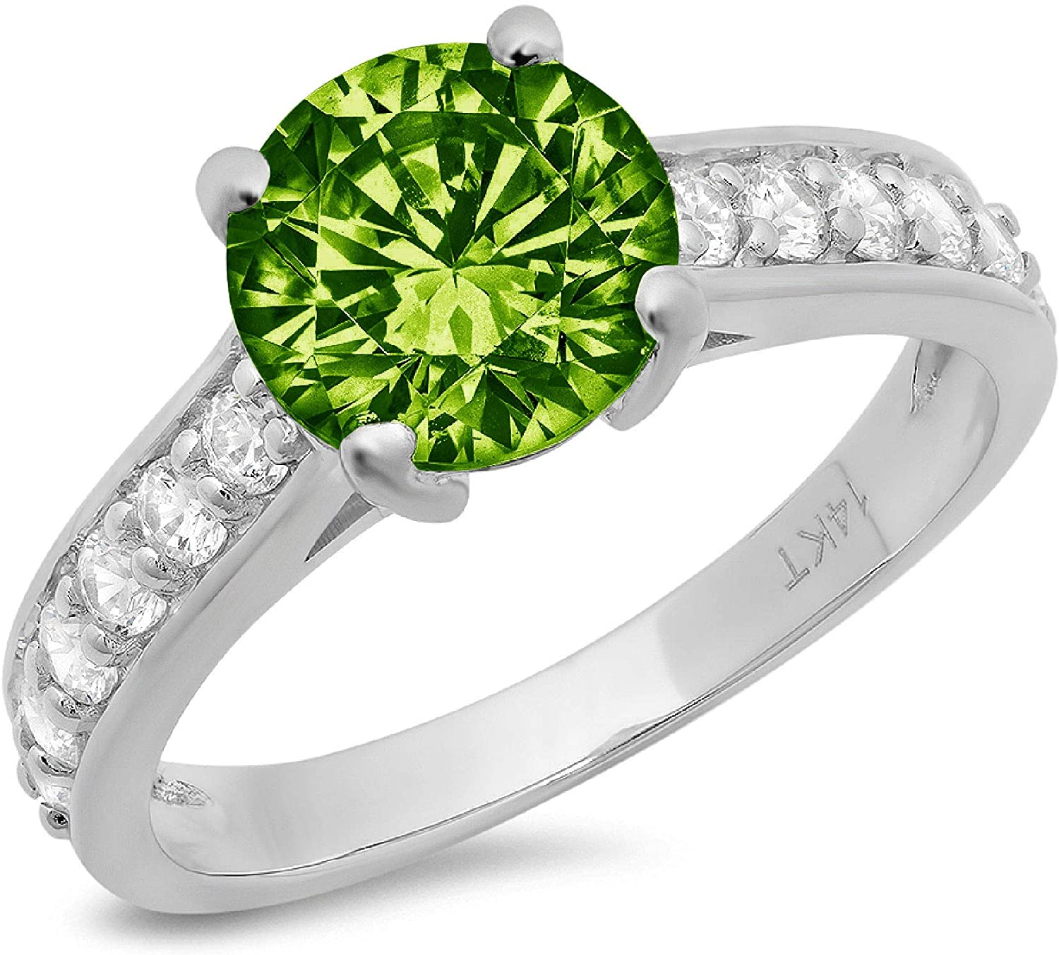 2.25 ct Brilliant depot Round Cut 2021new shipping free shipping Solitaire Flawless Accent Na Genuine