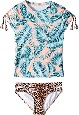 Native Jungle Short Sleeve Surf Set (Little Kids/Big Kids)