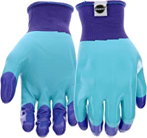 West Chester Miracle-Gro MG30855 Knit Gardening Gloves with Full Hand Nitrile Dipped Protection: Women's Small/Medium, 1 Pair