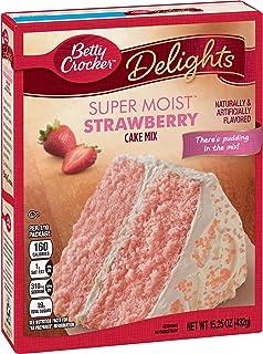 Betty Crocker Baking Mix, Super Moist Cake Mix, Strawberry, 15.25 Oz Box (Pack of 6)