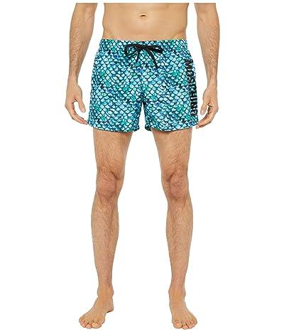 Moschino Snake Swim Trunks (Light Blue Multi) Men
