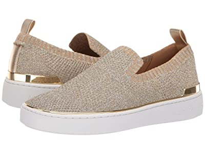 MICHAEL Michael Kors Skyler Slip-On (Silver/Gold Metallic Knit/Metallic Nappa) Women