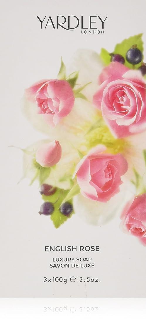 ダイバースマート涙が出る【ヤードレー ロンドン】イングリッシュ ローズ ラグジュアリー ソープ 3個セット 100g×3 [並行輸入品]