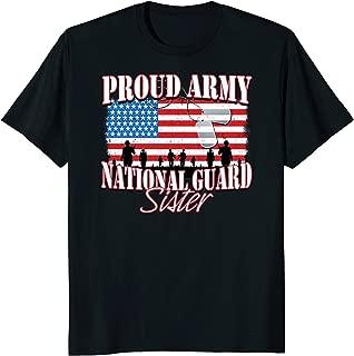Proud Army National Guard Sister Dog Tag Flag Shirt Women