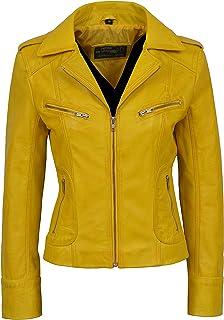 Carrie CH Hoxton Señoras Chaqueta de Cuero Real 100% Piel de Cordero de la Manera Ocasional Motocicleta Estilo Biker 9823