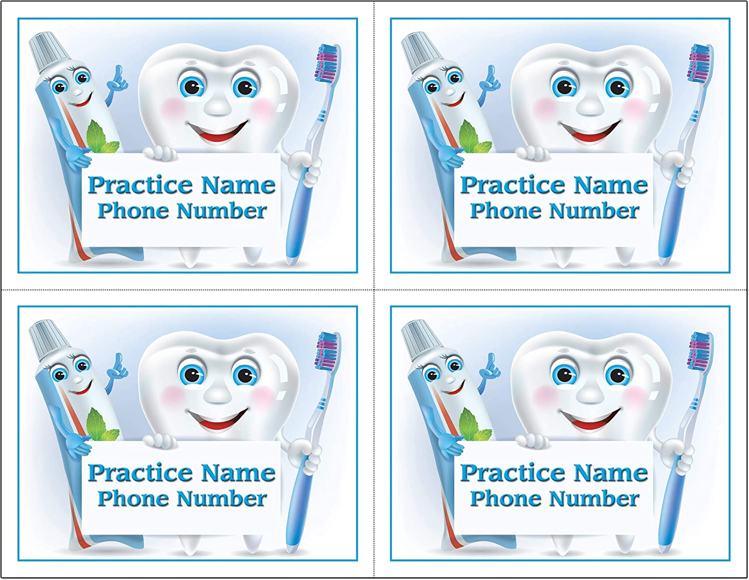 4 Up Laser Reminder Postcards Personalized Challenge the lowest price of Japan for front OFFicial site Dental.
