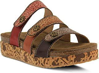 L'ARTISTE Women's Keena Leather Slide Sandal