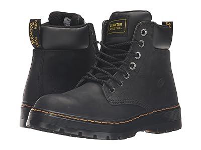 Dr. Martens Work Winch Service 7-Eye Boot (Black Wyoming) Men
