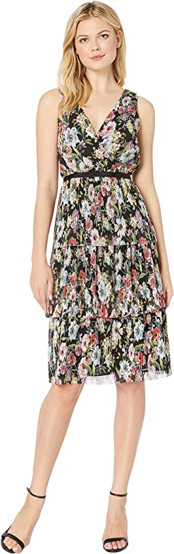 Printed Floral Garden Printed Tiered Dress