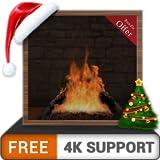 chimenea de leña virtual gratis HD: disfrute de las frías vacaciones de Navidad en invierno en su TV HDR 4K, TV 8K y dispositivos de fuego como fondo de pantalla, decoración para las vacaciones de Nav