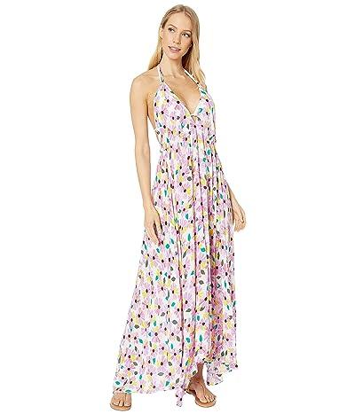 Kate Spade New York Wallflower Halter Maxi Dress Cover-Up (White) Women