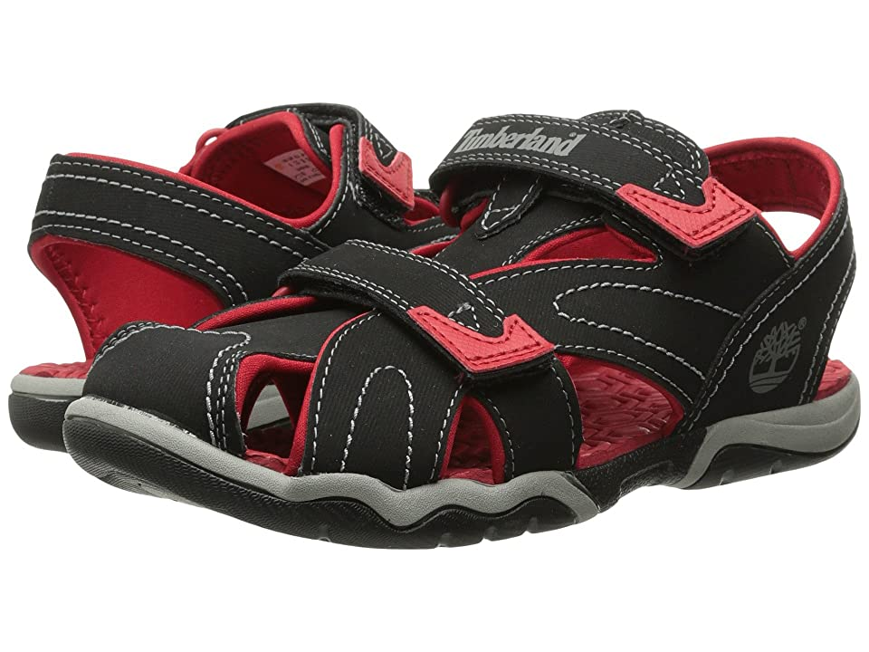 Timberland Kids Adventure Seeker Closed Toe Sandal (Big Kid) (Black/Red) Boys Shoes