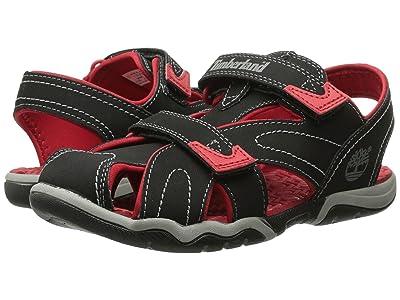 Timberland Kids Adventure Seeker Closed Toe Sandal (Big Kid) (Black/Red) Boys Shoes