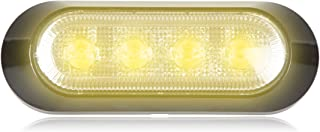 """Maxxima M20384YCL 4 LED Amber Clear Ultra Thin 0.9"""" Low Profile Warning Strobe Light"""