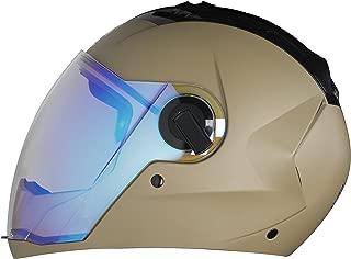 Steelbird SBA-2 Full Face Helmet with Blue Visor (Desert Storm, Large)