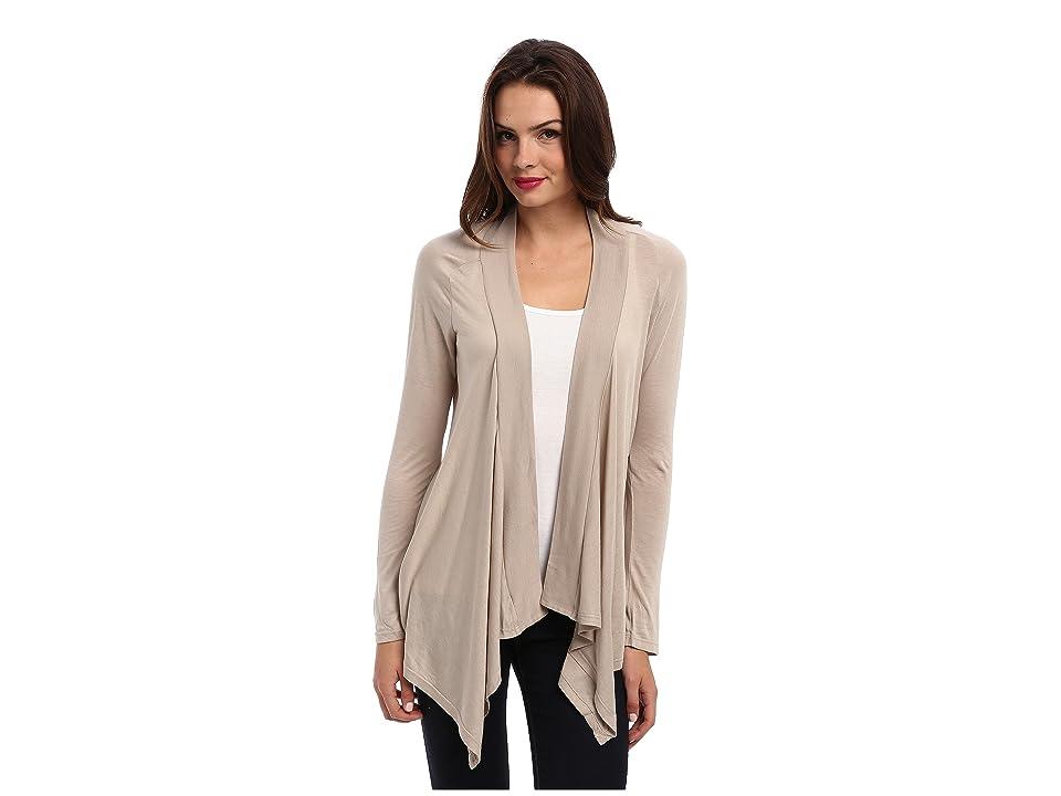 Splendid Exclusive Very Light Jersey Drape Cardigan (Almond) Women