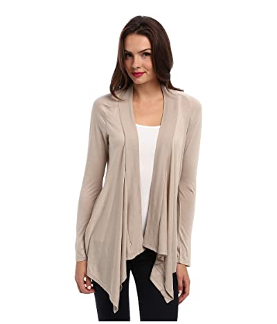 Splendid Exclusive Very Light Jersey Drape Cardigan (Almond) Women