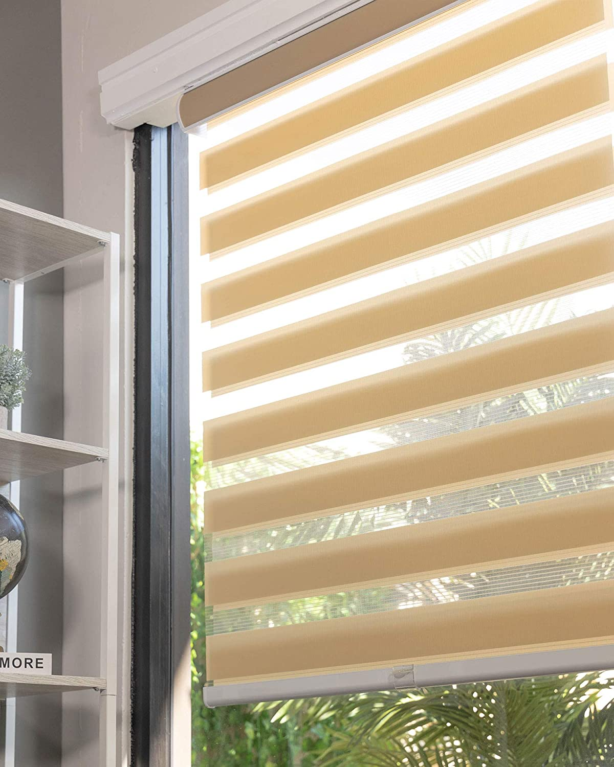 CHICOLOGY Chicago Mall Everyday Cordless Zebra Shades Filtering 5 popular Light Dual L