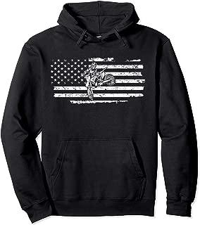 Dirt Bike USA Flag Hoodie Motocross Motorcycle Hoodies Gift