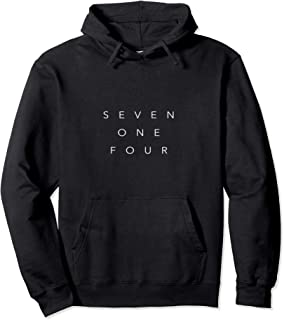 714 Area Code California Hoodie Sweatshirt Seven One Four