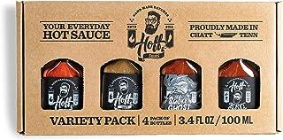Hoff Sauce Gift Box 4-Pack Mini-Flasks - Handmade Tennessee Hot Sauces & BBQ Sauce