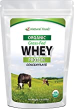 Organic Whey Protein Powder - 1 lb - Grass Fed, Unflavored, Hormone Free, Non GMO, Gluten Free, Kosher - All Natural Whey ...