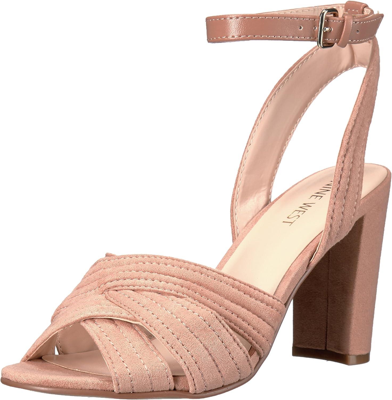 Nine West Womens Niaria Leather Dress Sandal