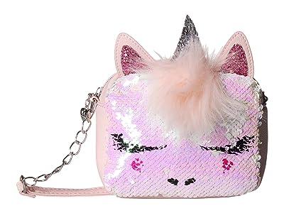 OMG! Accessories Sequin Unicorn Crossbody (Pink) Cross Body Handbags